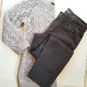 ❤ Bundle EB Grey Cords with Cable Sweater